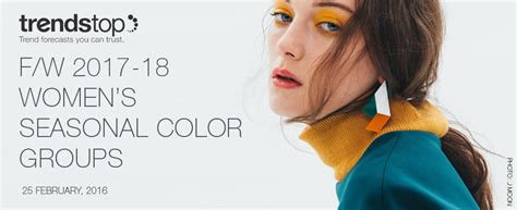 Home Interior Color Palettes Autumn Winter 2017 2018 Women S Seasonal Color Forecast By