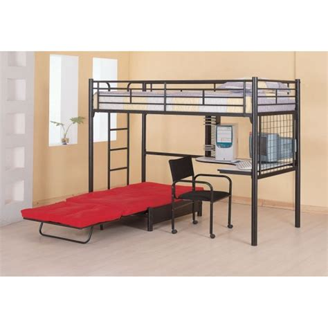twin loft bunk bed with futon chair and desk twin futon loft bed loft bed design futon loft bed ideas