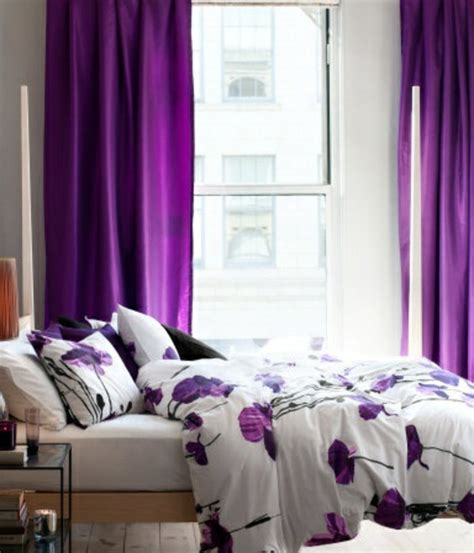Purple Bedroom L Shades by 50 Curtains In Lilac Sheer Fabrics And Feminine Flair
