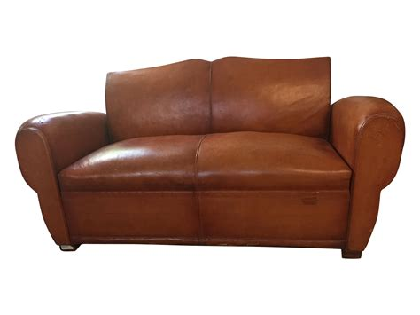 Handmade Leather 1940 S Vintage - 1940 s vintage brown leather sleeper sofa chairish