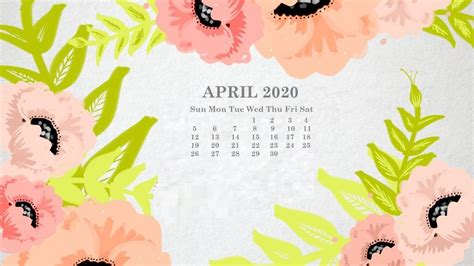 april  calendar wallpapers  wallpapersafari