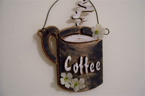 Coffee Cup Wall Decor by Coffee Cup Wall Hanging Wall Wood Wall By