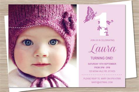 1st birthday card invitation template birthday invitations