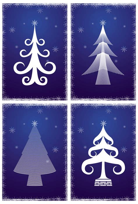 christmas pattern lines 4 designer simple lines of the christmas tree vector