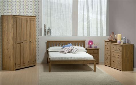 santiago bedroom furniture santiago solid pine 3 drawer bedside cabinet