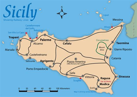 map of sicily italy sicily map and travel guide wandering italy