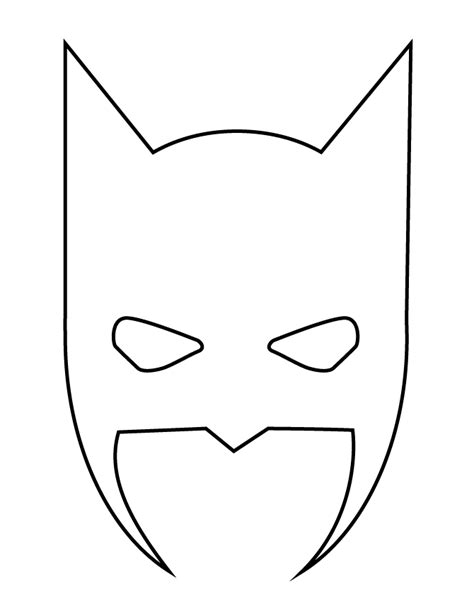 Batman Mask Coloring Page batman mask stencil h m coloring pages