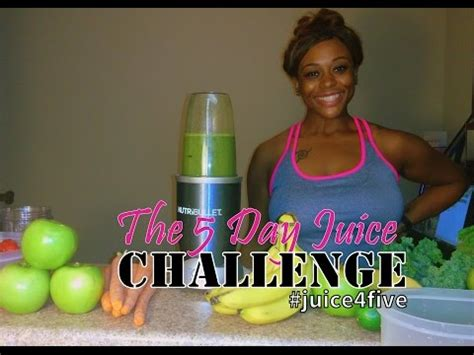 Nutribullet Detox Before And After by Juicing For Weight Loss The Juice4five Challenge With