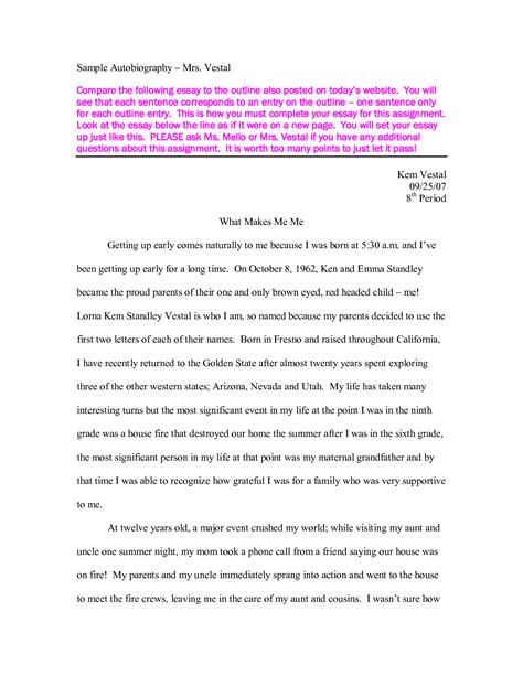 biography essay format writing an autobiography essay