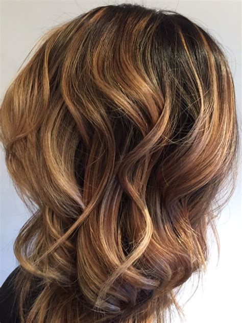 honey brown hair with blonde ombre close up of a soft ombr 233 caramel and honey blonde soft