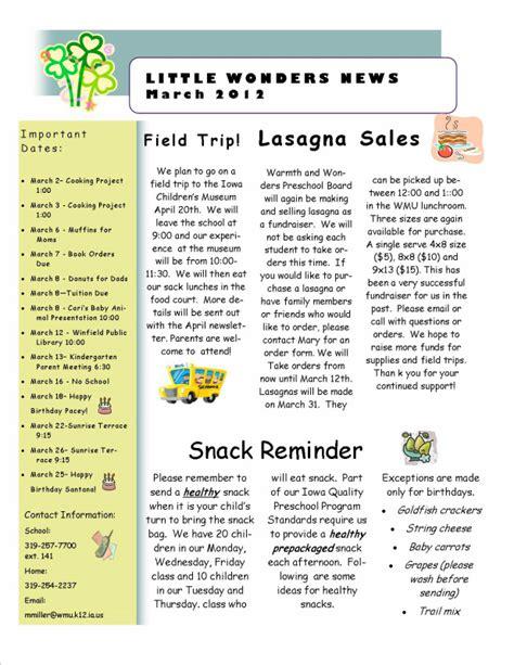 monthly newsletter mrs miller s preschool classroom