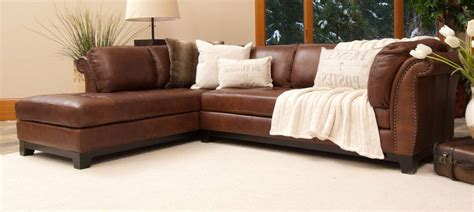 costco brown leather couch full grain leather sectional sofa nice full grain leather