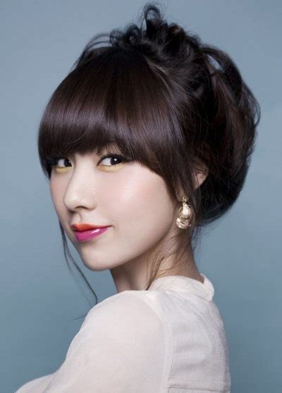 hair bond wirh chinese bangs hairstyle 1000 ideas about asian hairstyles women on pinterest