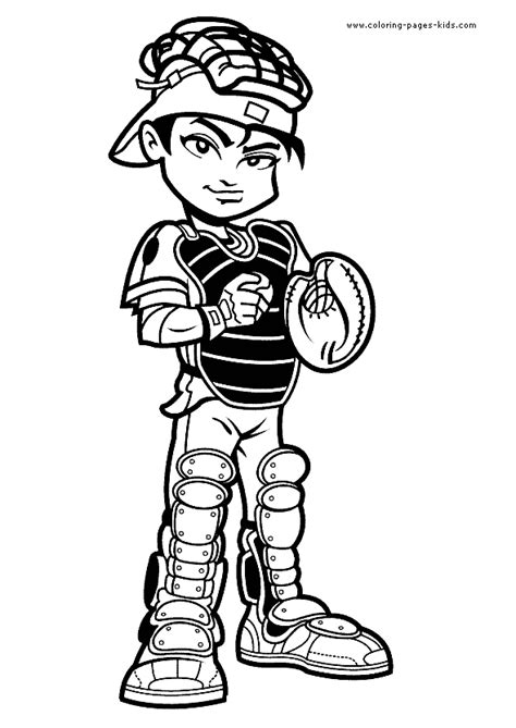 baseball boy coloring page catcher baseball color page coloring pages for kids