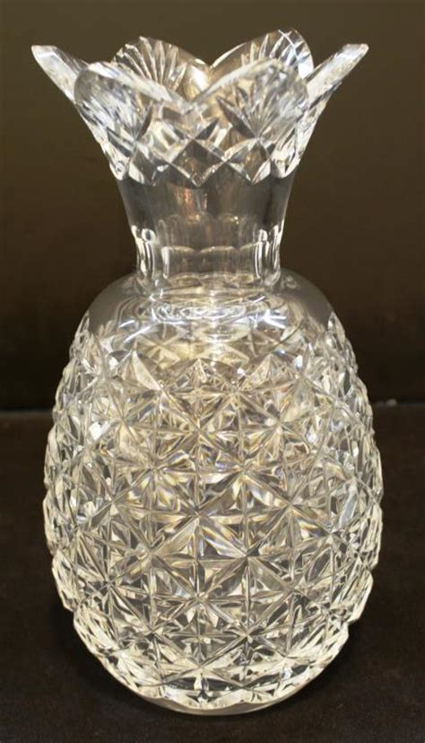 Waterford Pineapple L waterford pineapple form lead vase