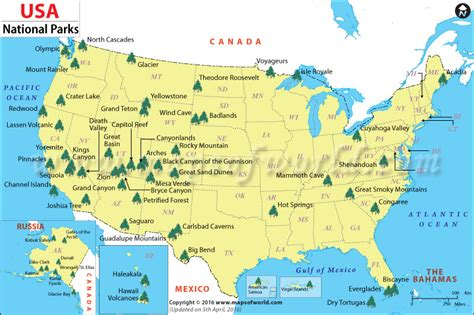 national parks usa map us national parks map list of national parks in the us