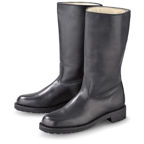 new italian leather boots black 147159 combat