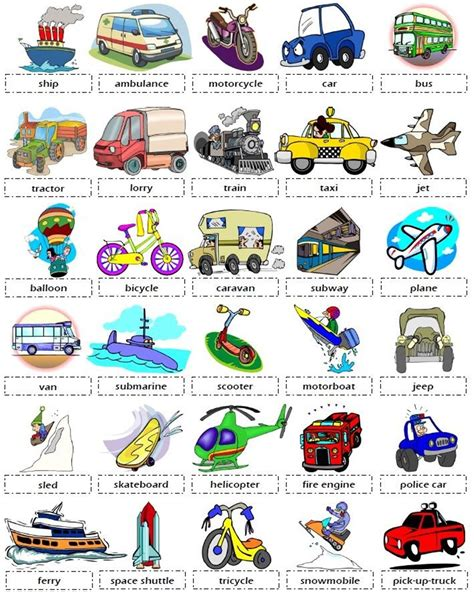 boat in spanish spelling vehicles and transportation vocabulary in english