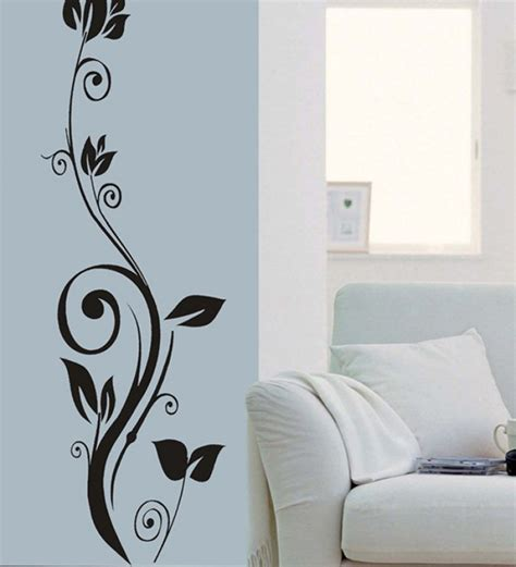 design wall art wall art decor teal standing flower wall sticker by wall