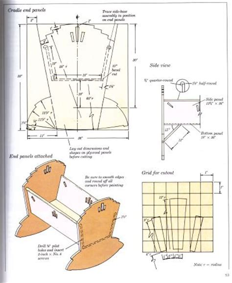 baby crib plans woodworking images
