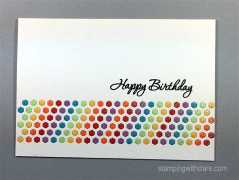 I Have A Borders Gift Card - inlaid hexagon border die birthday cards
