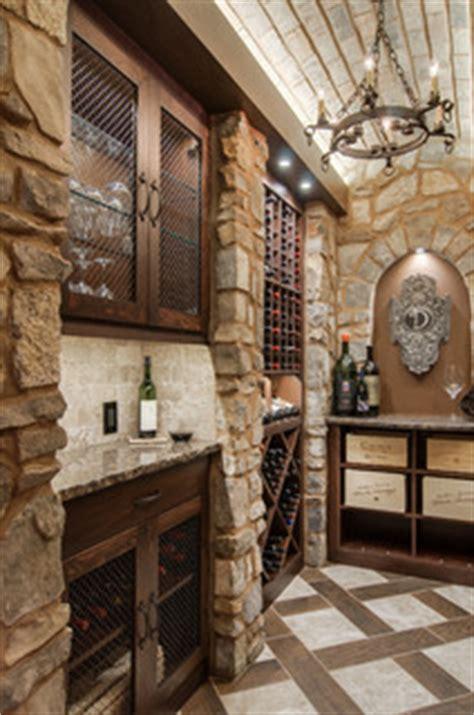 closet converted   custom wine cellar mediterranean