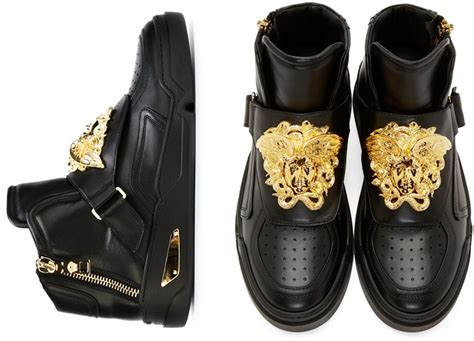 versace s shoes sneakers medusa gold metal sneakers