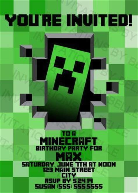 printable minecraft greeting cards minecraft birthday greeting cards party supply ebay