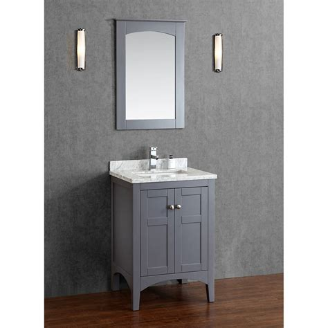 Buy Martin 24 Inch Solid Wood Single Bathroom Vanity In Gray Bathroom Vanities