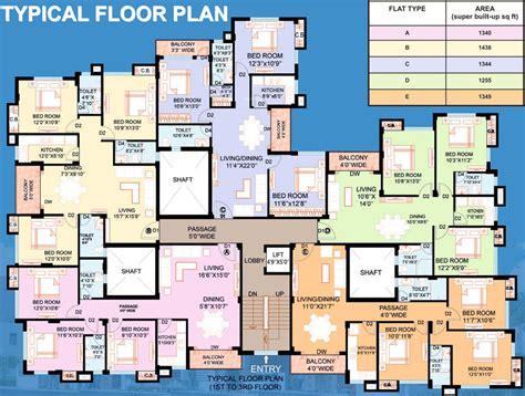 serin residency floor plan 1344 sq ft 3 bhk 2t apartment for sale in webstar