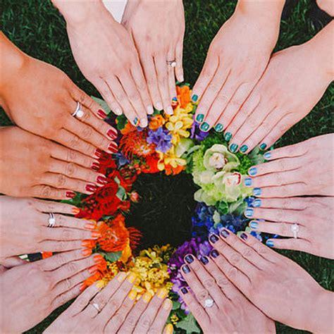 rainbow wedding theme popsugar