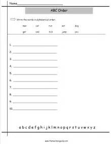 abc order worksheets from the teacher s guide
