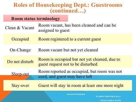 housekeeping room status room status