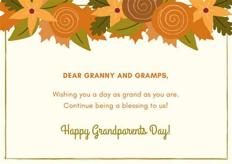 Customize 45  Grandparents Day Card templates online   Canva