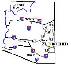 eastern arizona map map of east arizona my