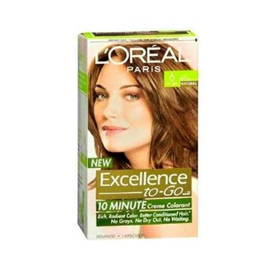 l oreal excellence 10 minute creme colorant 6 light brown 1 application