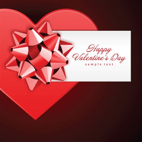 Romantic Gift Cards - romantic valentine day gift card vector free vector 4vector
