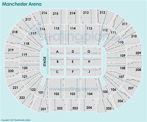 a seating plan manchester arena detailed seating plan