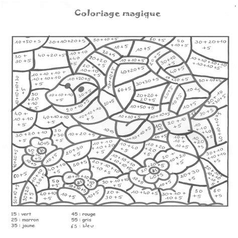 Coloriage Magique Calcul Coloriage Magique Ce1 Tables De Multiplication L