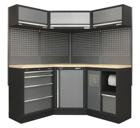 wooden garage storage cabinets uk sealey garage and workshop system garagepride uk