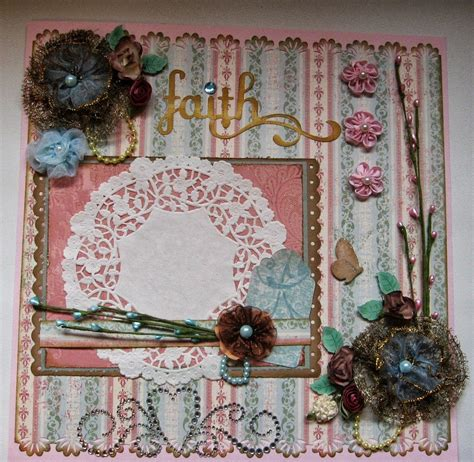 scrappinrabbit shabby chic scrapbook page layouts
