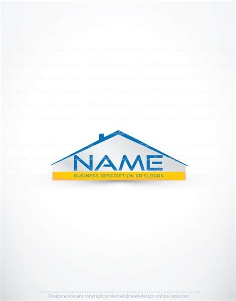 design house logo exclusive design real estate house logo compatible free business card online logo