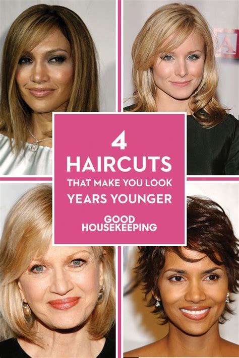 short haircuts to make face look thinner 4 haircuts that make you look years younger