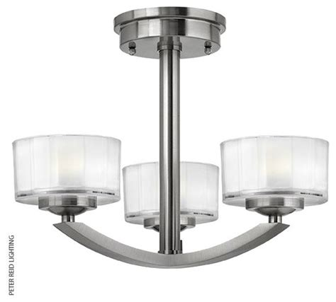 houzz ceiling lights meridian 3 light semi flush ceiling contemporary flush