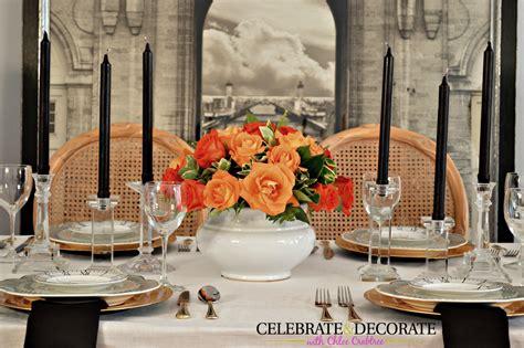 an simple dinner tablescape celebrate decorate