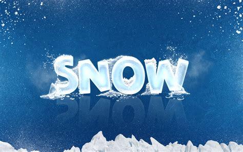 ice cool freeze snow text effects  alifuwork
