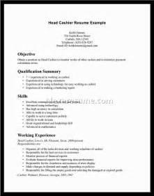 best cashier resume sle document