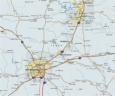road map of central texas central texas map images