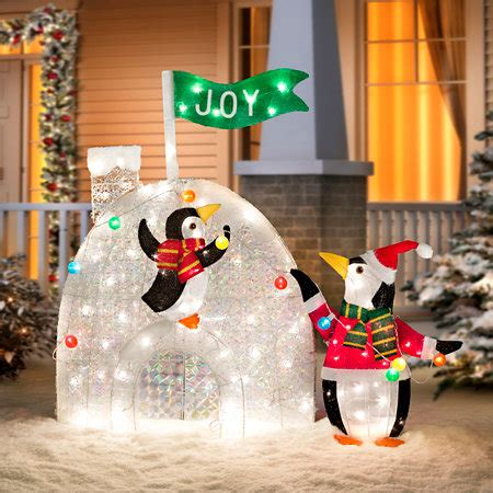 penguin igloo christmas decoration psoriasisguru com