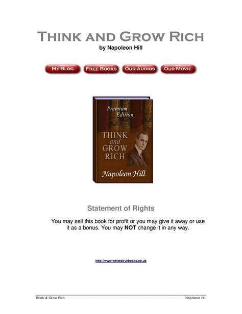 think and grow rich guide an official publication of the napoleon hill foundation books think and grow rich by napoleon hill by alessandro